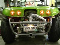 Bumpers/cage painted and installed for the Lithia Mark III