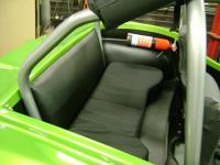 Temporary rear seat/Fie extinguisher