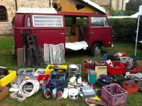 Our spread of parts for sale at Transporterfest 2012