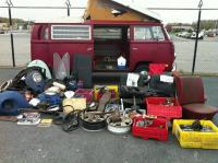 Our spread of parts for sale at New England dust off 2012
