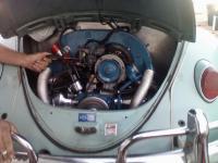 Rebuilt engine in the 1961 Lightning Bug
