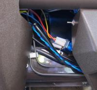 Left of center console