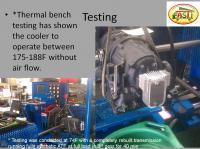 oil cooler testing